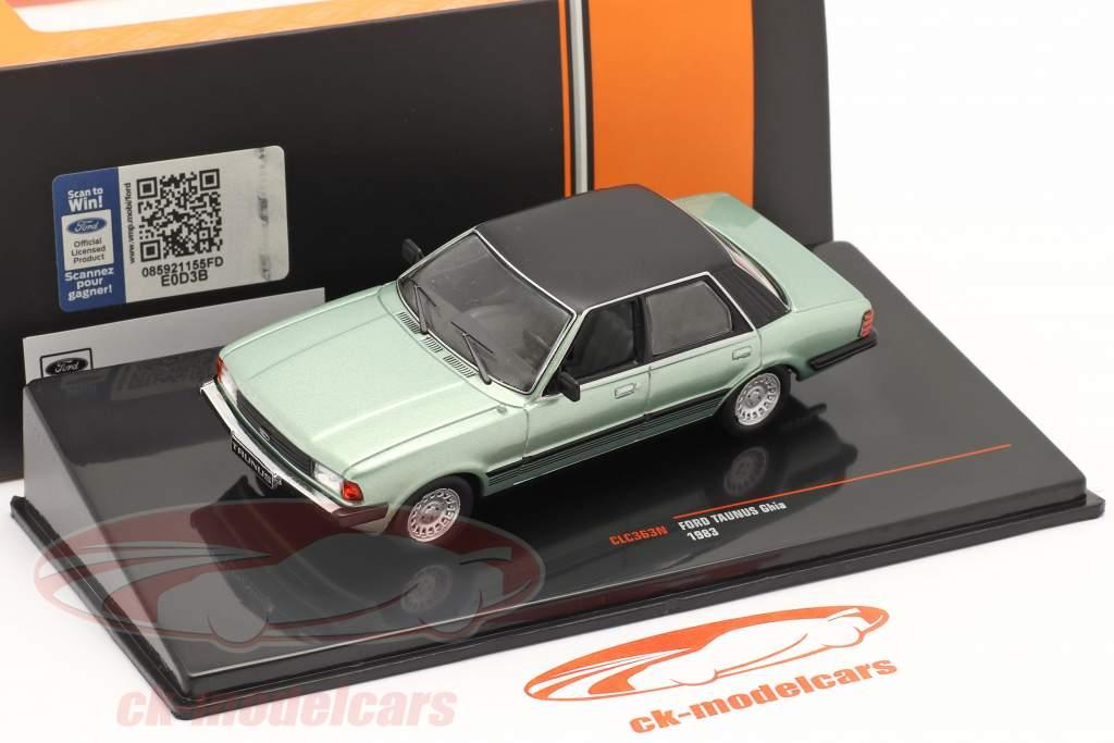 Ford Taunus Ghia Baujahr 1983 hellgrün metallic / schwarz 1:43 Ixo