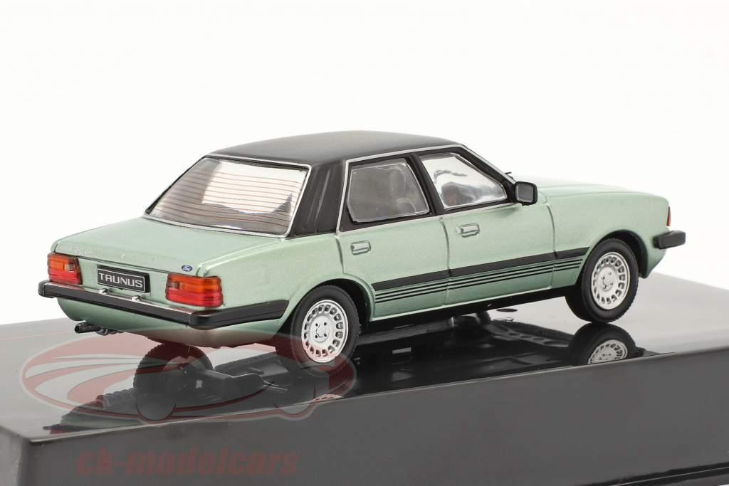 Ford Taunus Ghia Ano de construção 1983 luz verde metálico / Preto 1:43 Ixo