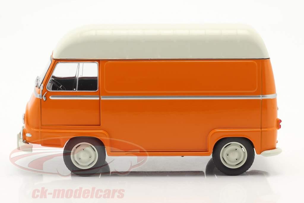 Renault Estafette camioneta naranja / blanco 1:24 WhiteBox