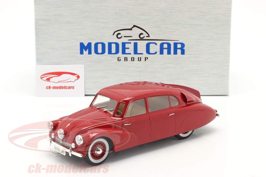 Tatra 87 Bouwjaar 1937 donker rood 1:18 Model Car Group