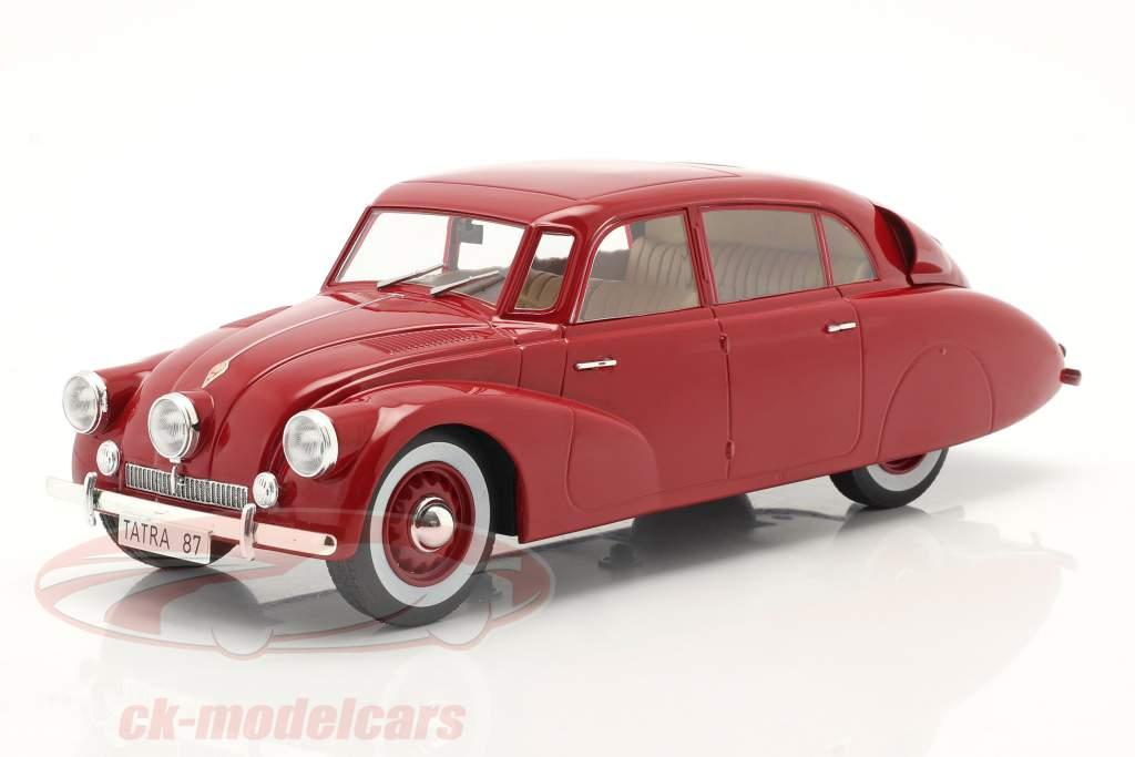 Tatra 87 Byggeår 1937 mørk rød 1:18 Model Car Group