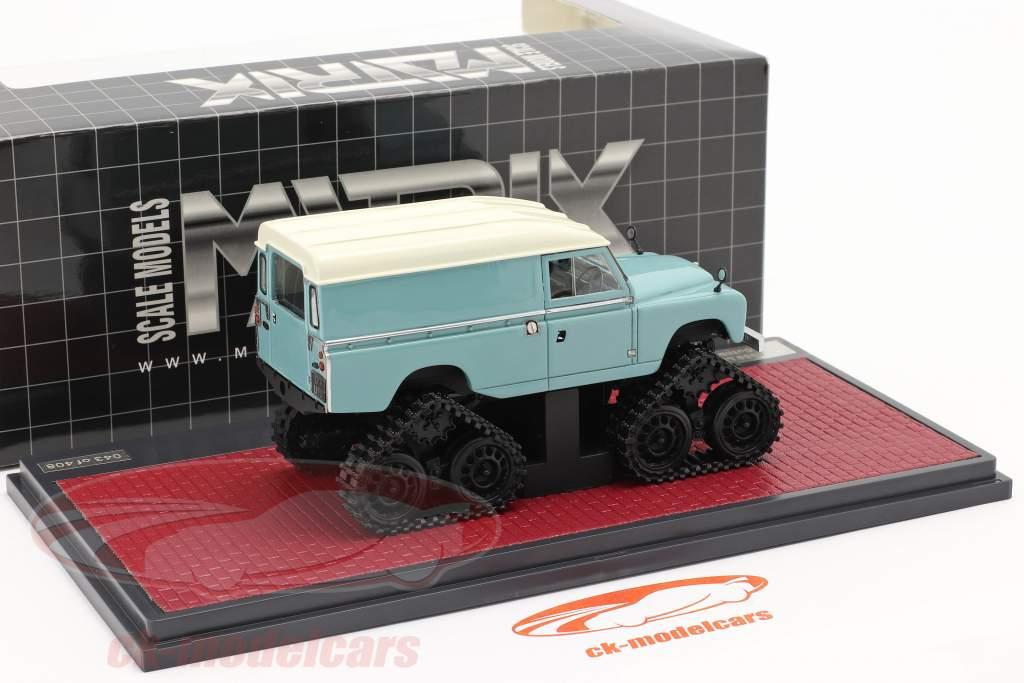 Land Rover Series II Cuthbertson Conversion 1958 turkoois / Wit 1:43 Matrix