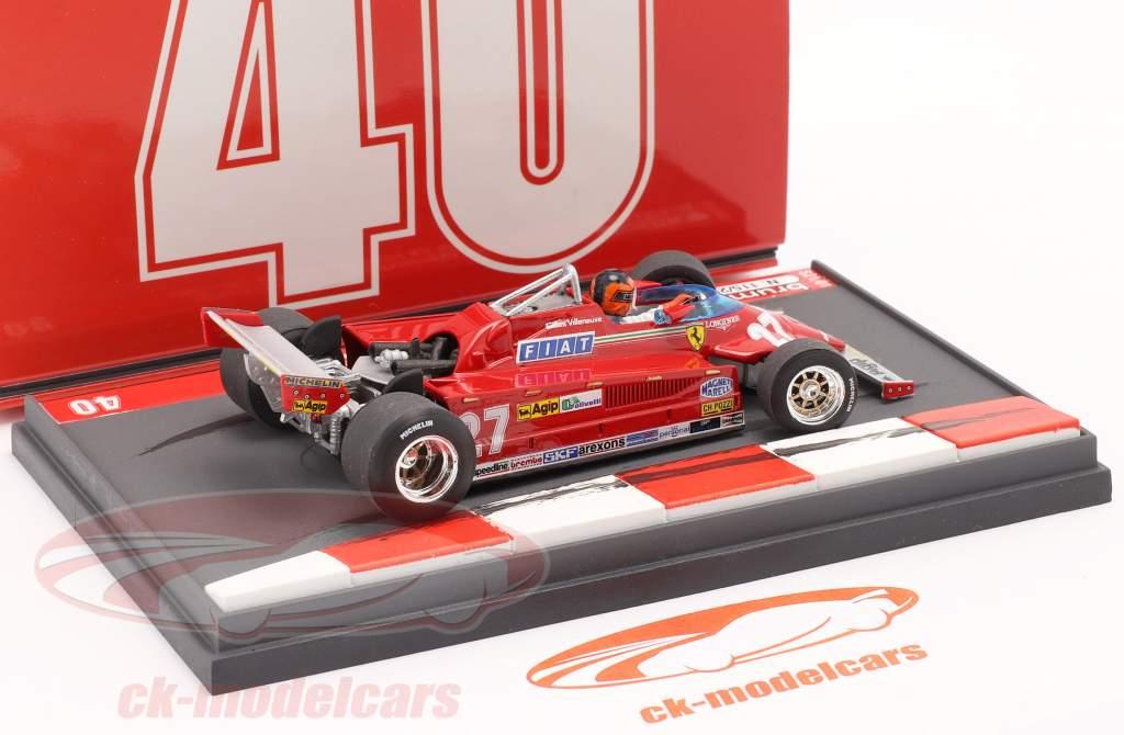 G. Villeneuve Ferrari 126CK #27 Sieger Monaco GP F1 1981 40th Anniversary 1:43 Brumm