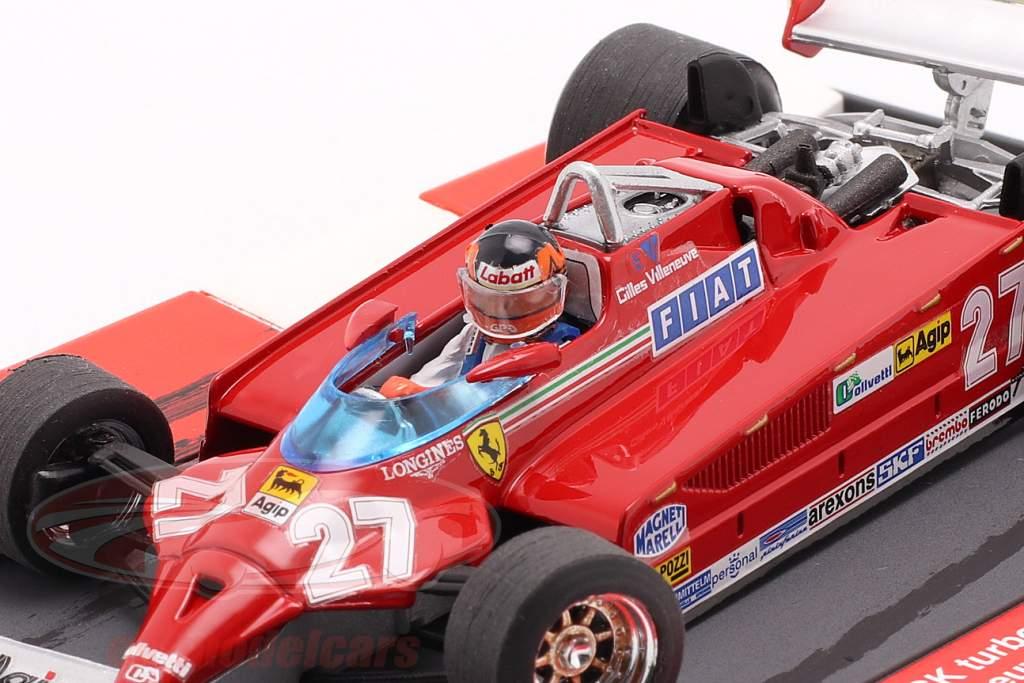G. Villeneuve Ferrari 126CK #27 winner Monaco GP F1 1981 40th Anniversary 1:43 Brumm