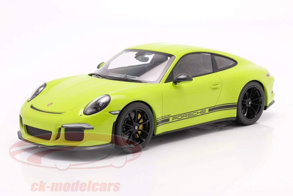 Porsche 911 (991) R Ring Police Godehardt 2016 lichtgrün 1:12 Minichamps