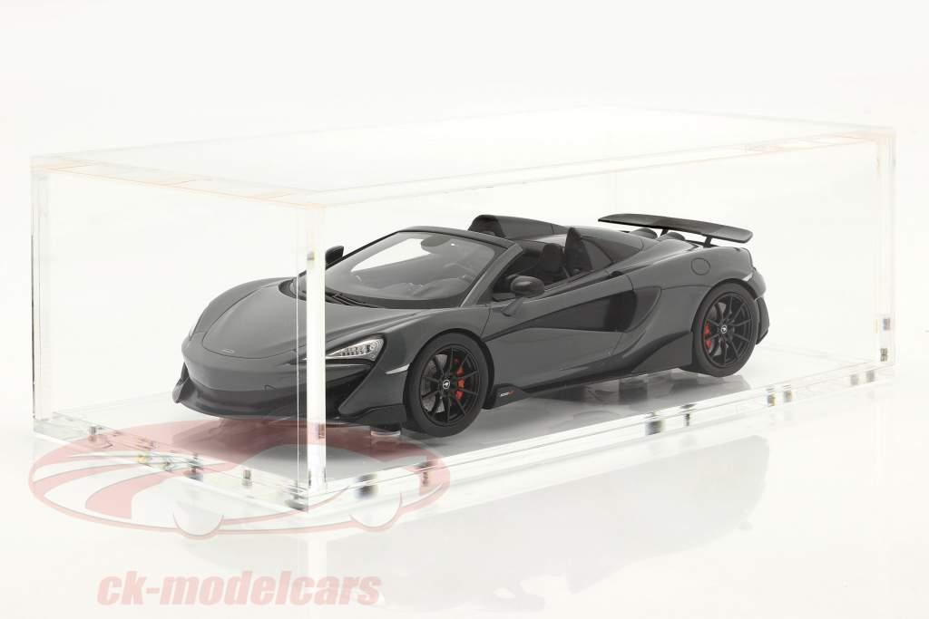 McLaren 600LT Spider Ano de construção 2019 chicane cinza Com Mostruário 1:18 Spark