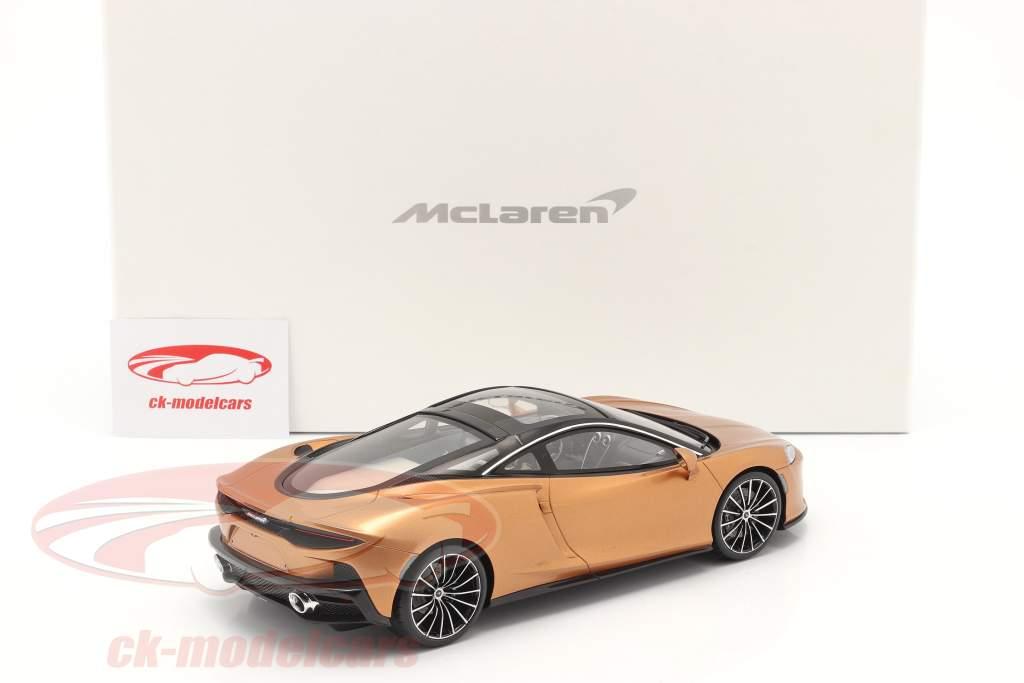 McLaren GT Bouwjaar 2019 koper metalen Met Showcase 1:18 Spark