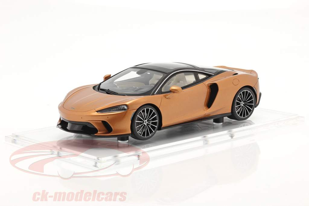 McLaren GT Année de construction 2019 cuivre métallique Avec Vitrine 1:18 Spark