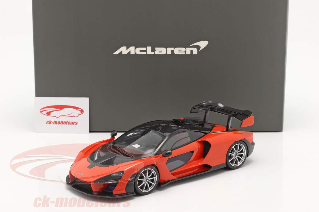 McLaren Senna Bouwjaar 2018 mira oranje 1:18 TrueScale