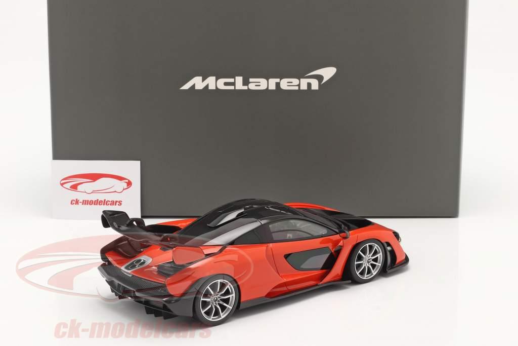McLaren Senna Construction year 2018 mira orange 1:18 TrueScale