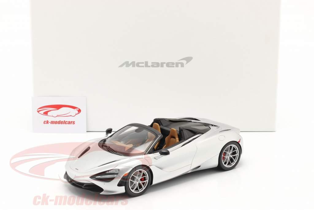 McLaren 720S Spider Anno di costruzione 2019 supernova argento Con vetrina 1:18 Spark