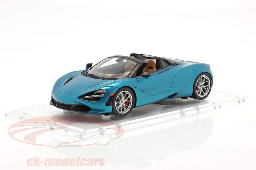 McLaren 720S Spider Anno di costruzione 2019 belize blu Con vetrina 1:18 Spark