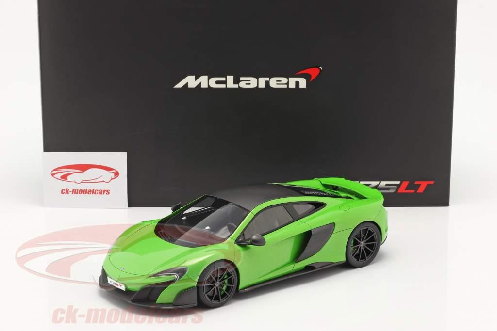McLaren 675LT Año de construcción 2015 napier verde 1:18 TrueScale