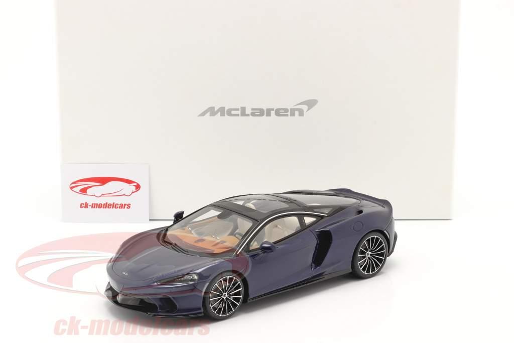 McLaren GT Anno di costruzione 2019 namaka blu Con vetrina 1:18 Spark