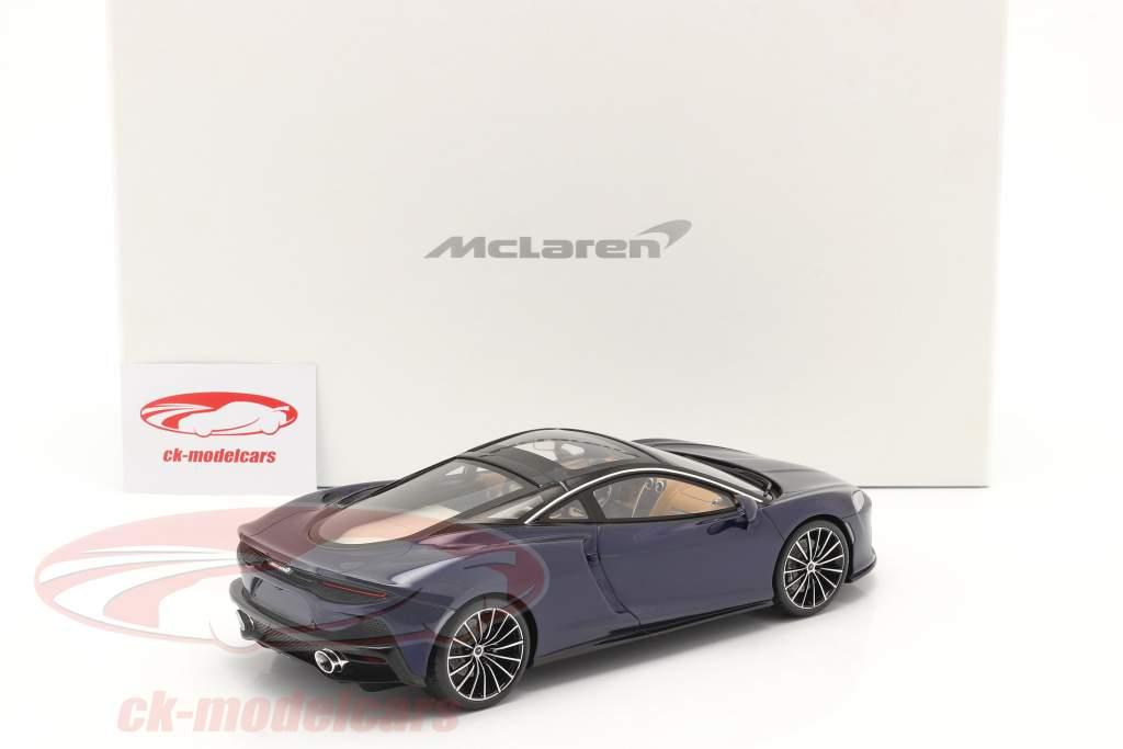 McLaren GT Byggeår 2019 namaka blå Med Udstillingsvindue 1:18 Spark