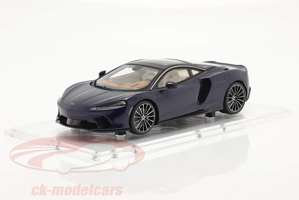 McLaren GT Année de construction 2019 namaka bleu Avec Vitrine 1:18 Spark