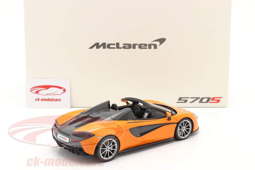 McLaren 570S Spider year 2017 ventura orange 1:18 Spark