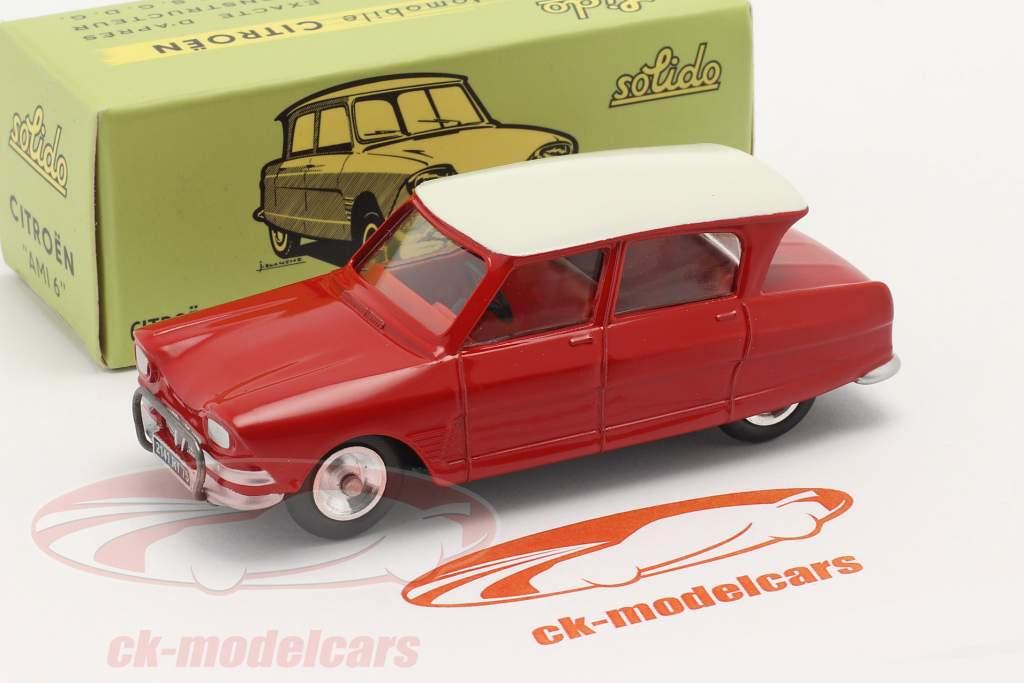 Citroen Ami 6 Berline year 1961 red 1:43 Solido