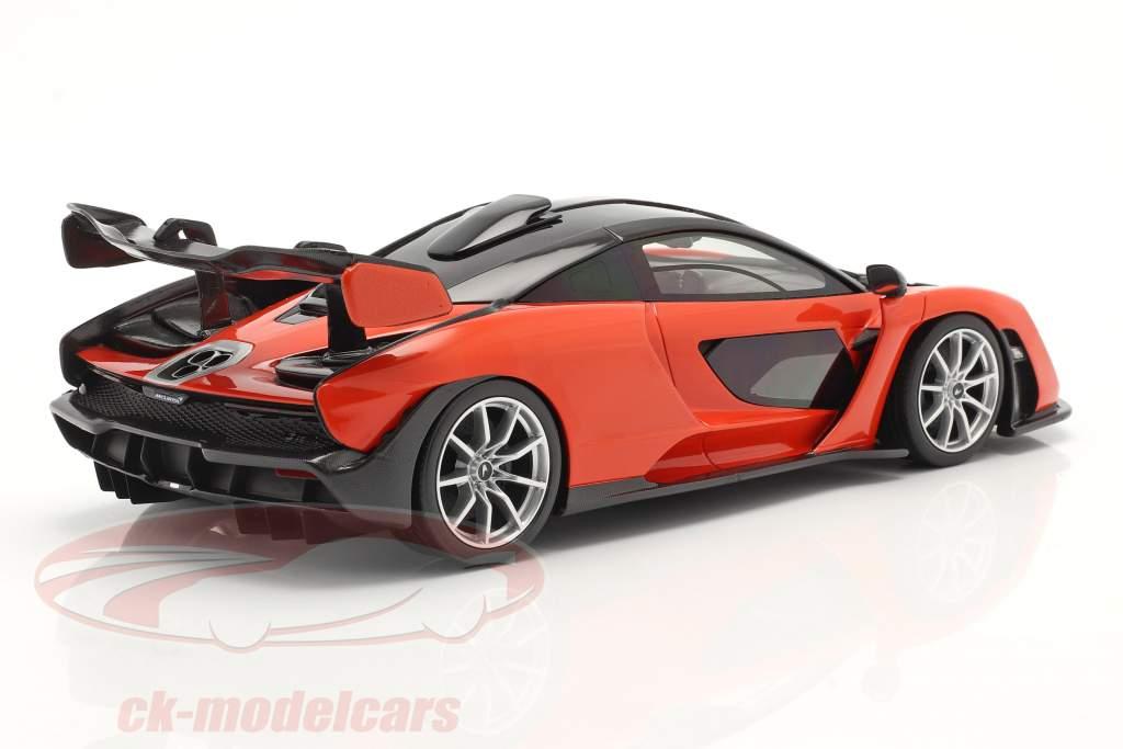 McLaren Senna Anno di costruzione 2018 mira arancia 1:18 TrueScale