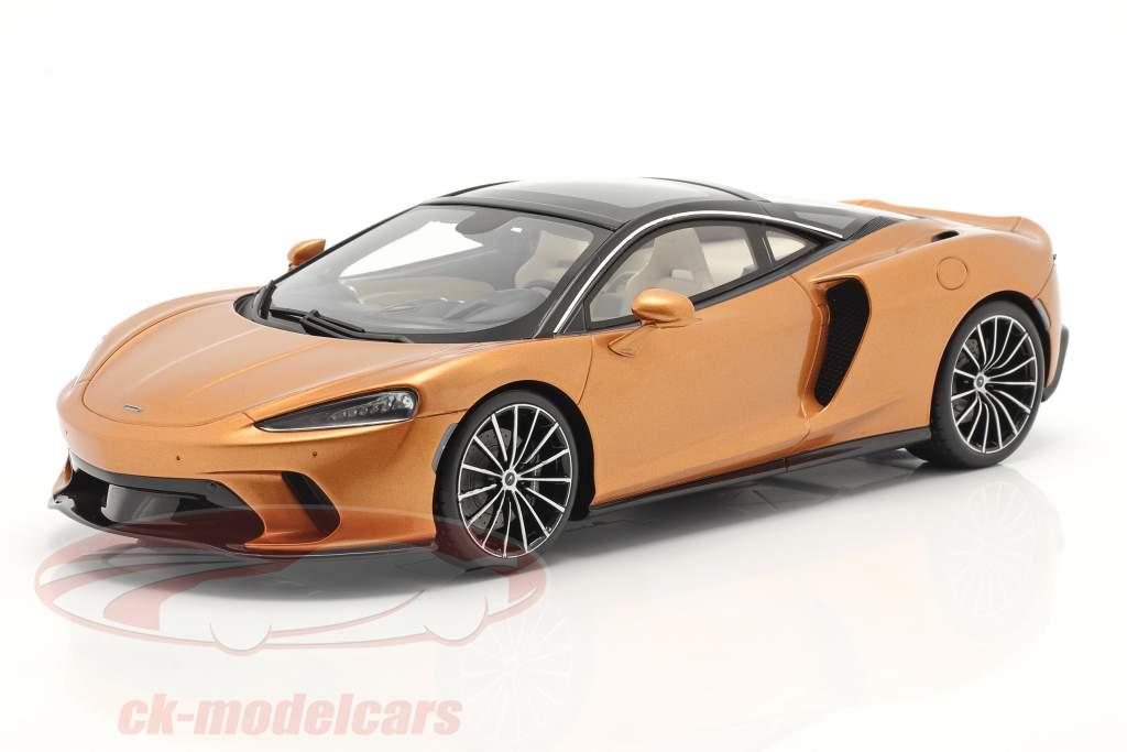McLaren GT Año de construcción 2019 cobre metálico Con Escaparate 1:18 Spark