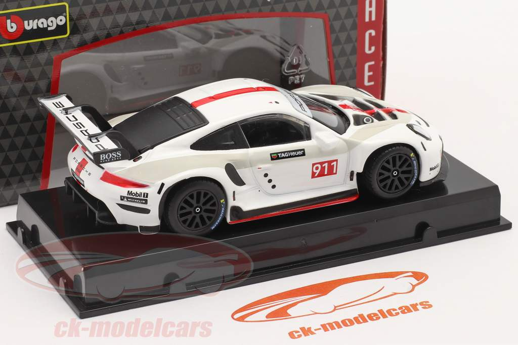 Porsche 911 RSR GT #911 bianca / rosso 1:43 Bburago