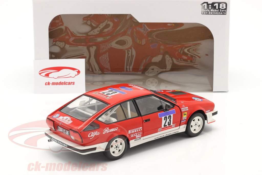 Alfa Romeo GTV6 #23 Quinto Tour de Corse 1985 Loubet, Vieu 1:18 Solido