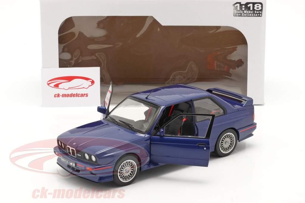 BMW M3 (E30) Coupe Byggeår 1990 Mauritius blå 1:18 Solido