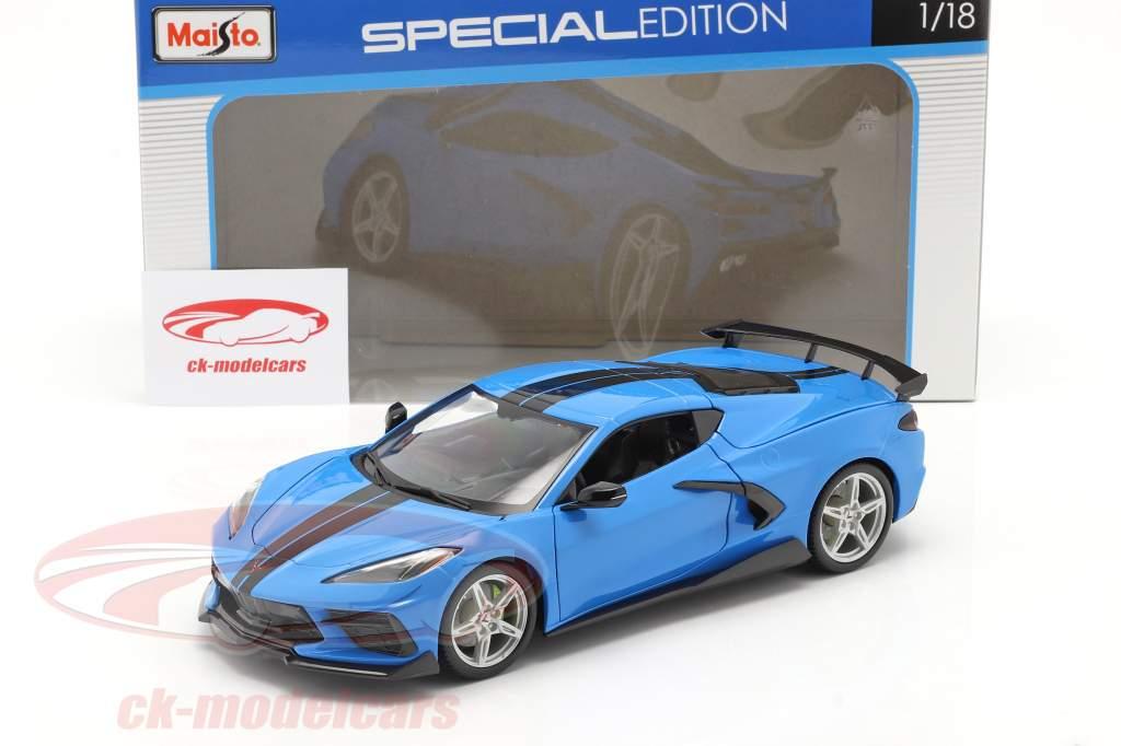 Chevrolet Corvette Stingray Coupe Ano de construção 2020 azul / Preto 1:18 Maisto