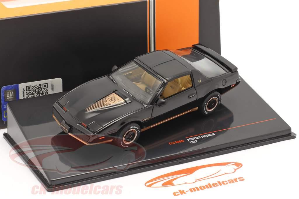 Pontiac Firebird Baujahr 1982 schwarz 1:43 Ixo