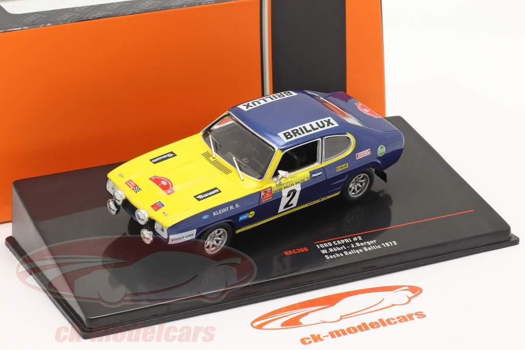 Ford Capri #2 Sachs Rallye Østersøen 1972 Röhrl, Berger 1:43 Ixo