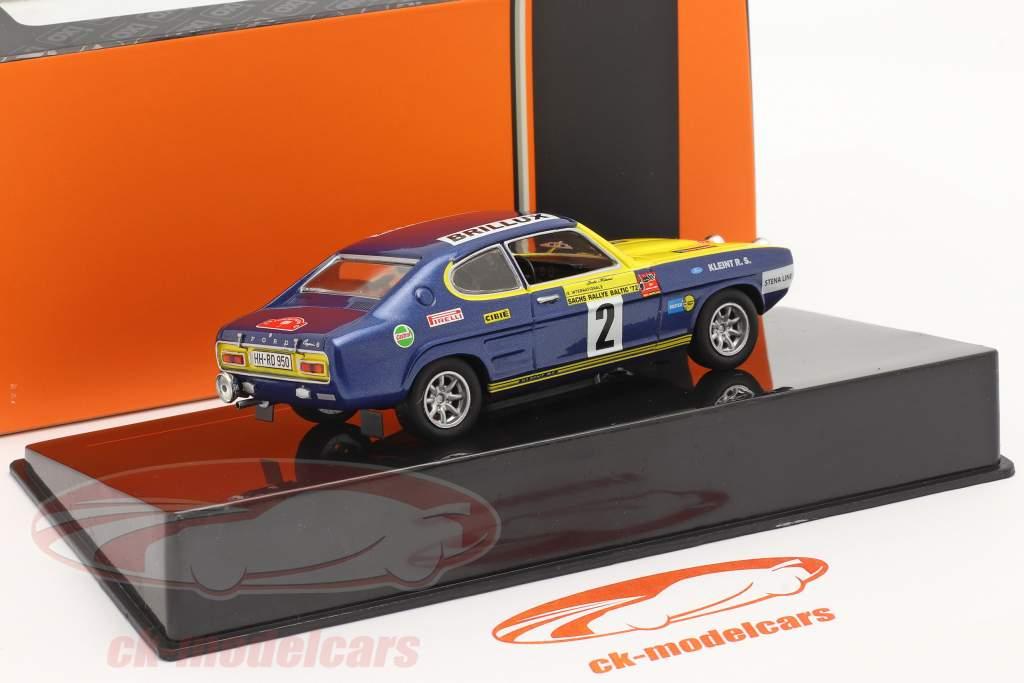 Ford Capri #2 Sachs Rallye Baltic 1972 Röhrl, Berger 1:43 Ixo