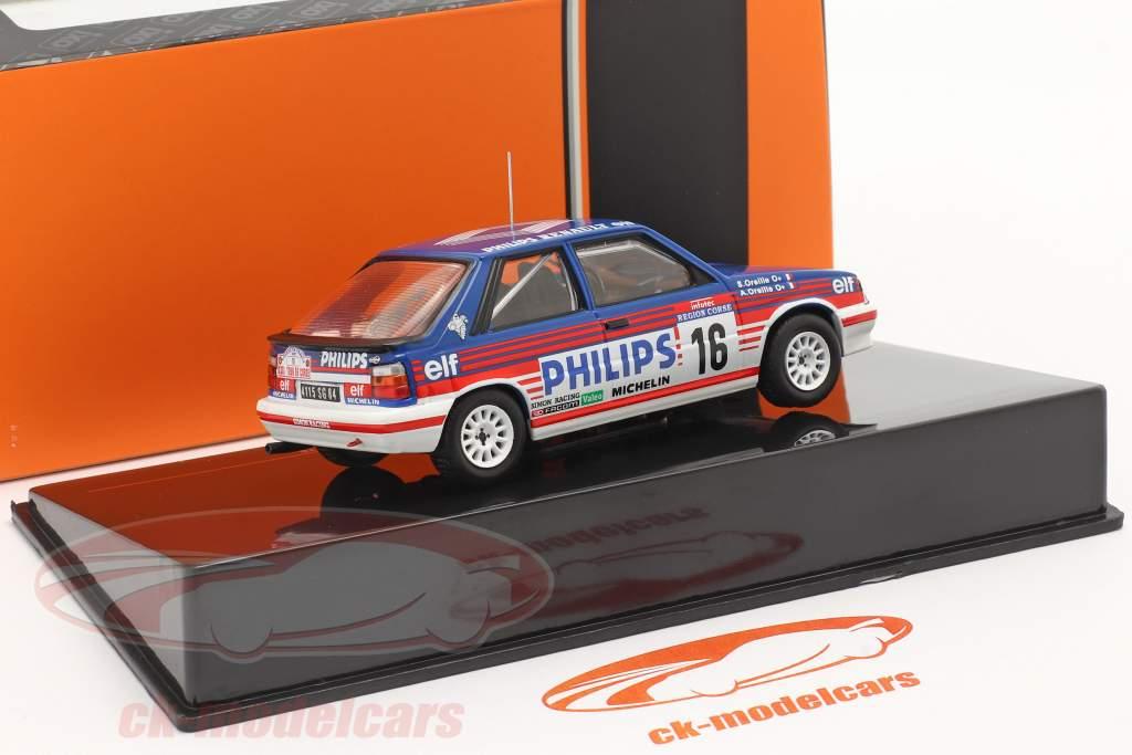 Renault 11 Turbo #16 6th Rallye Tour de Corse 1987 A.Oreille, S.Oreille 1:43 Ixo