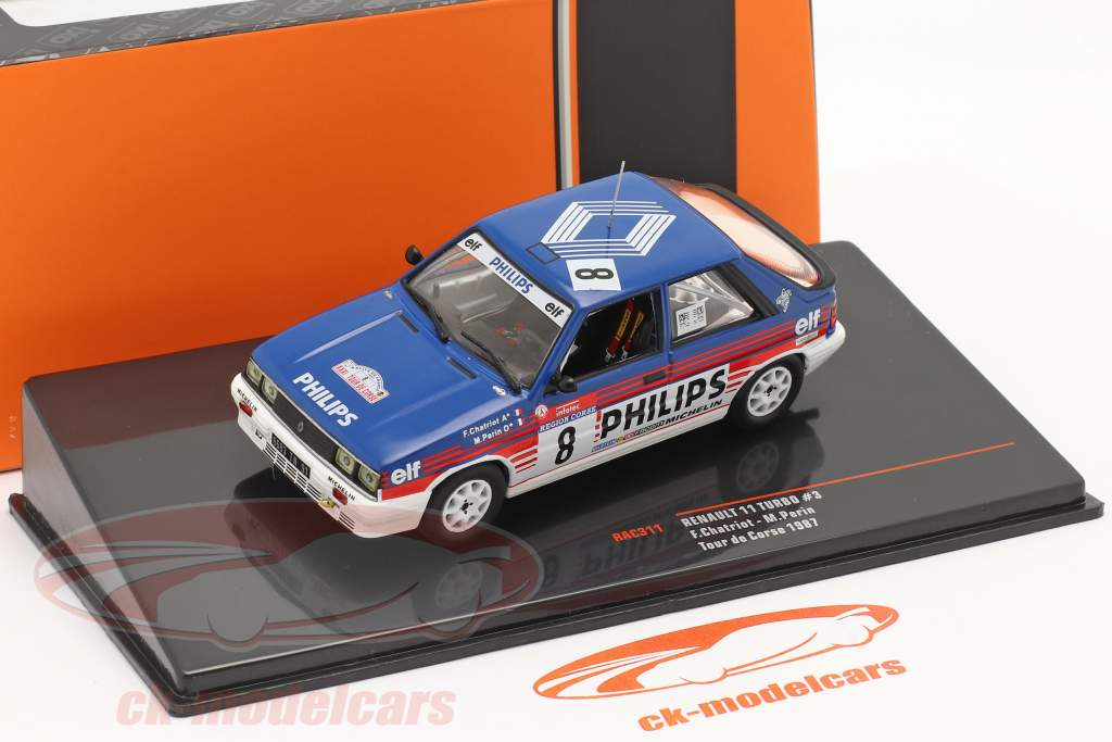 Renault 11 Turbo #3 4 ° Rallye Tour de Corse 1987 Chatriot, Perin 1:43 Ixo