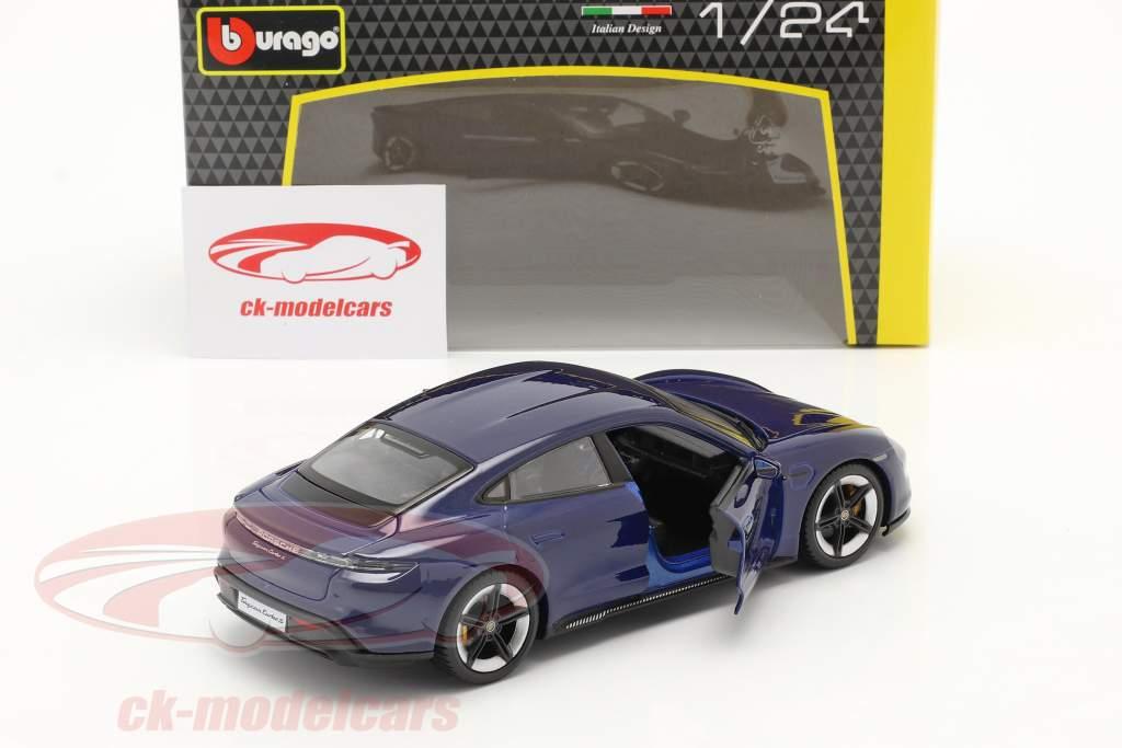 Porsche Taycan Turbo S mørkeblå 1:24 Bburago