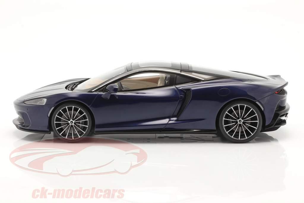 McLaren GT year 2019 namaka blue with showcase 1:18 Spark