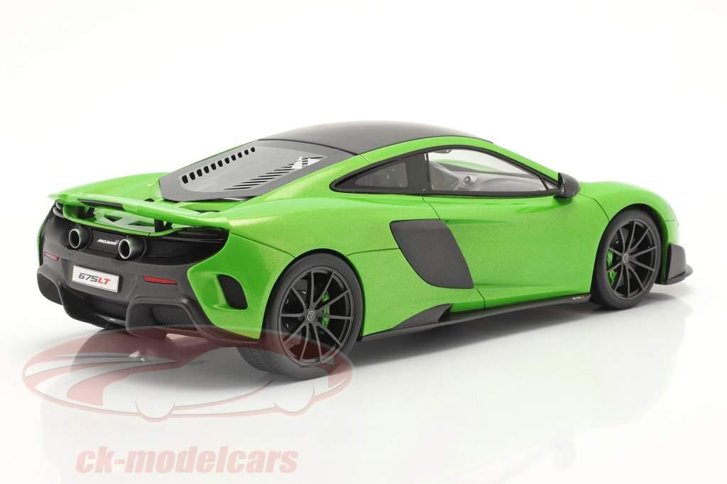 McLaren 675LT Anno di costruzione 2015 napier verde 1:18 TrueScale
