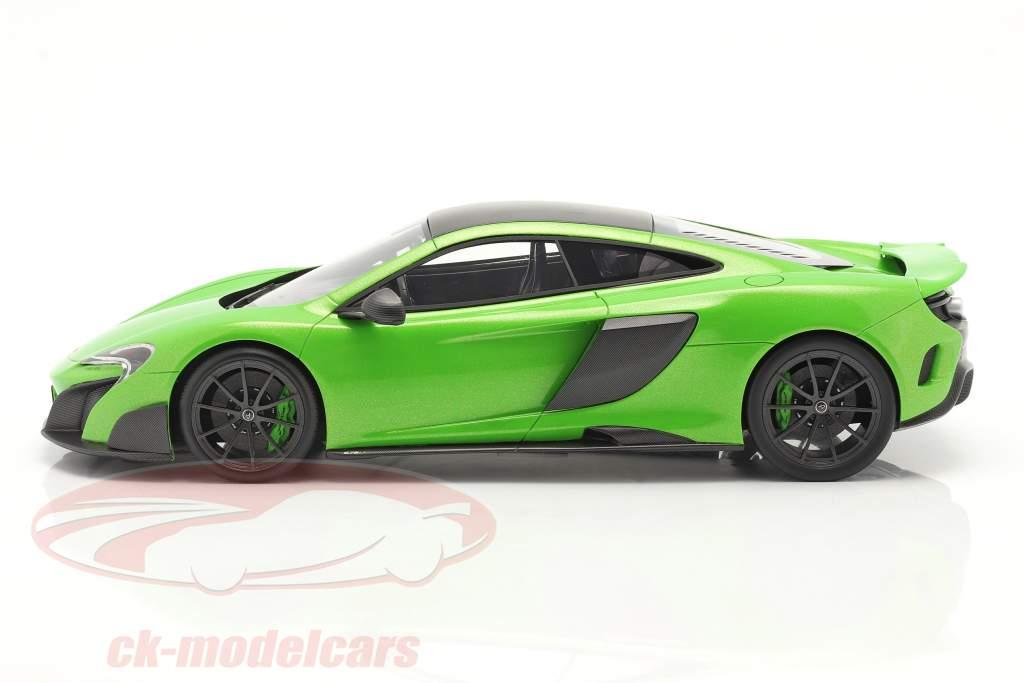 McLaren 675LT year 2015 napier green 1:18 TrueScale
