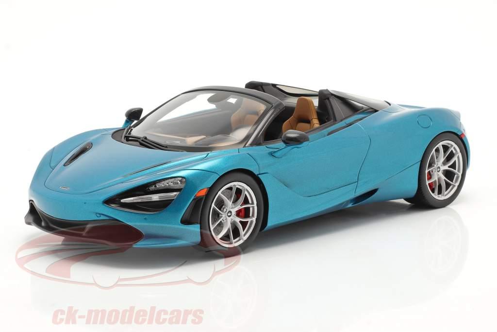 McLaren 720S Spider Ano de construção 2019 belize azul Com Mostruário 1:18 Spark