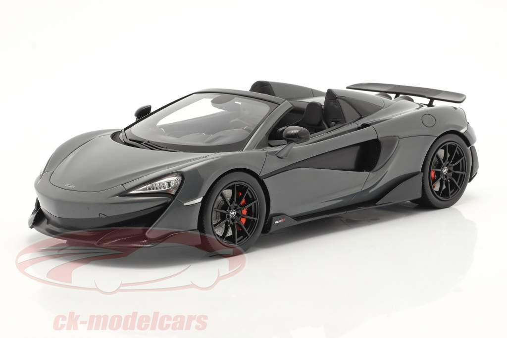 McLaren 600LT Spider Année de construction 2019 chicane gris Avec Vitrine 1:18 Spark