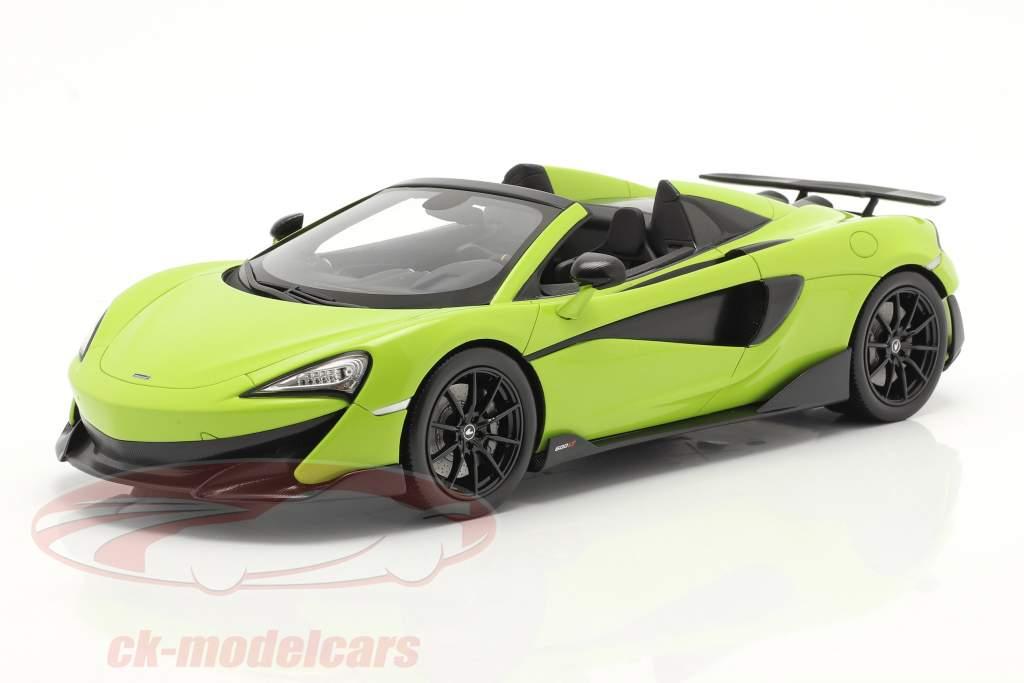 McLaren 600LT Spider Année de construction 2019 lime vert Avec Vitrine 1:18 Spark
