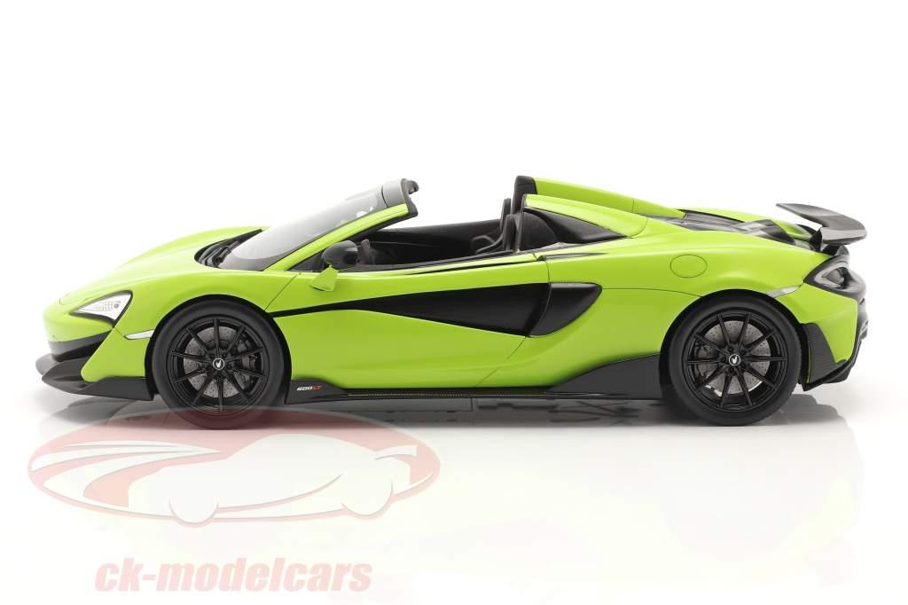 McLaren 600LT Spider Año de construcción 2019 lime verde Con Escaparate 1:18 Spark