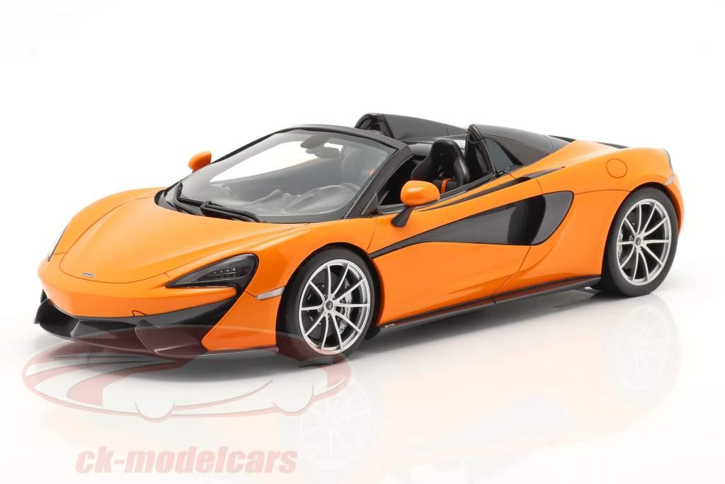McLaren 570S Spider Année de construction 2017 ventura Orange 1:18 Spark