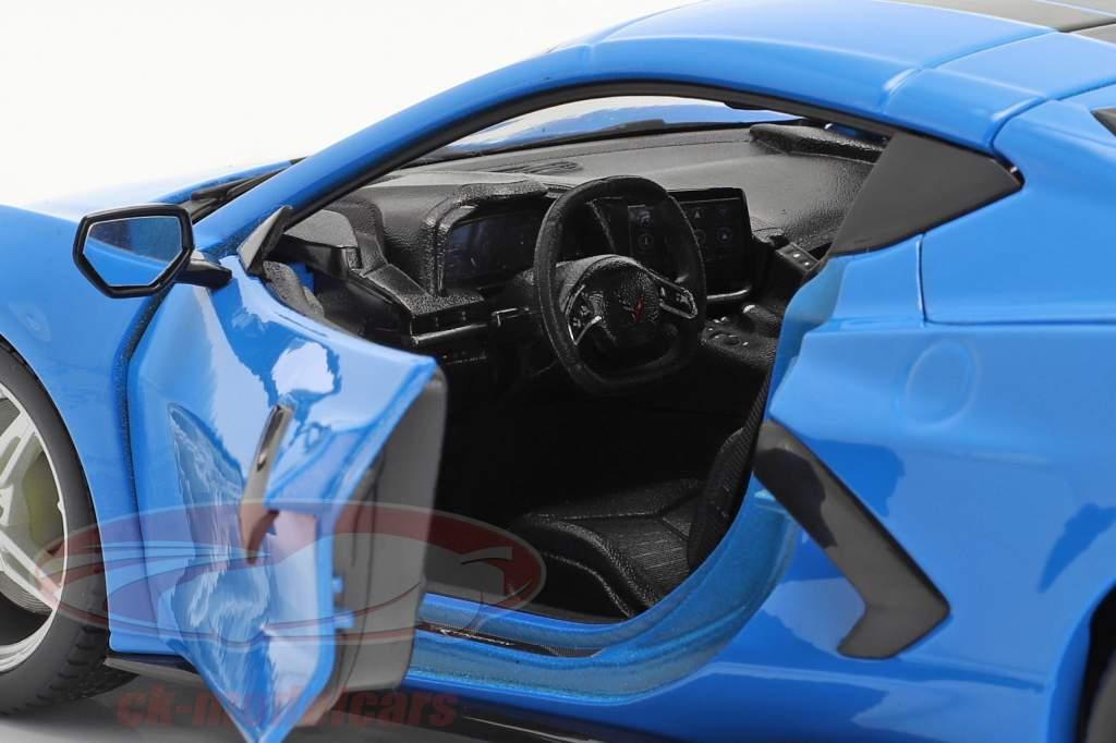 Chevrolet Corvette Stingray Coupe Anno di costruzione 2020 blu / nero 1:18 Maisto