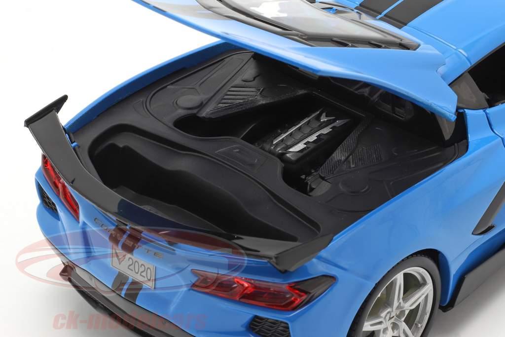 Chevrolet Corvette Stingray Coupe Année de construction 2020 bleu / noir 1:18 Maisto