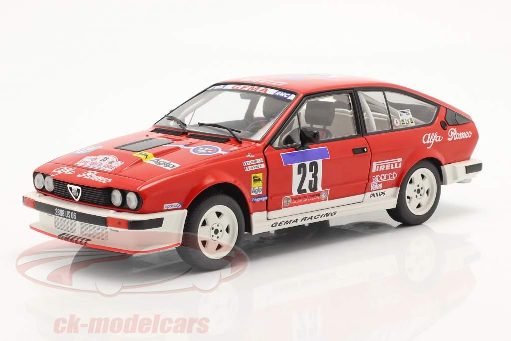 Alfa Romeo GTV6 #23 5. plads Tour de Corse 1985 Loubet, Vieu 1:18 Solido