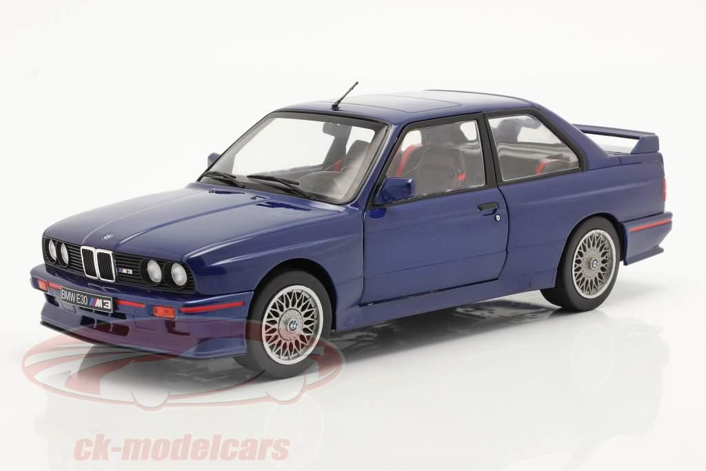 BMW M3 (E30) Coupe Année de construction 1990 Ile Maurice bleu 1:18 Solido