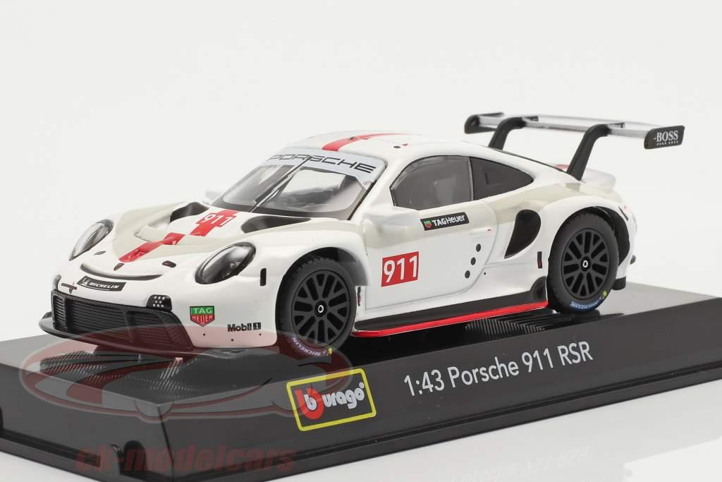 Porsche 911 RSR GT #911 blanc / rouge 1:43 Bburago