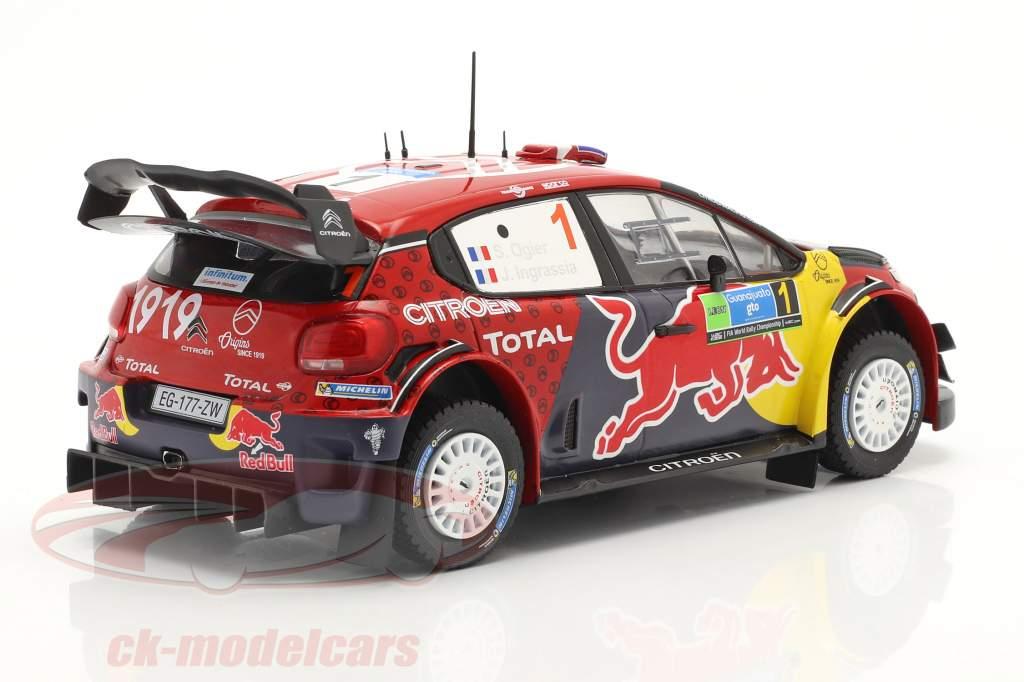 Citroen C3 WRC #1 Vencedora Rallye México 2019 Ogier, Ingrassia 1:24 Ixo