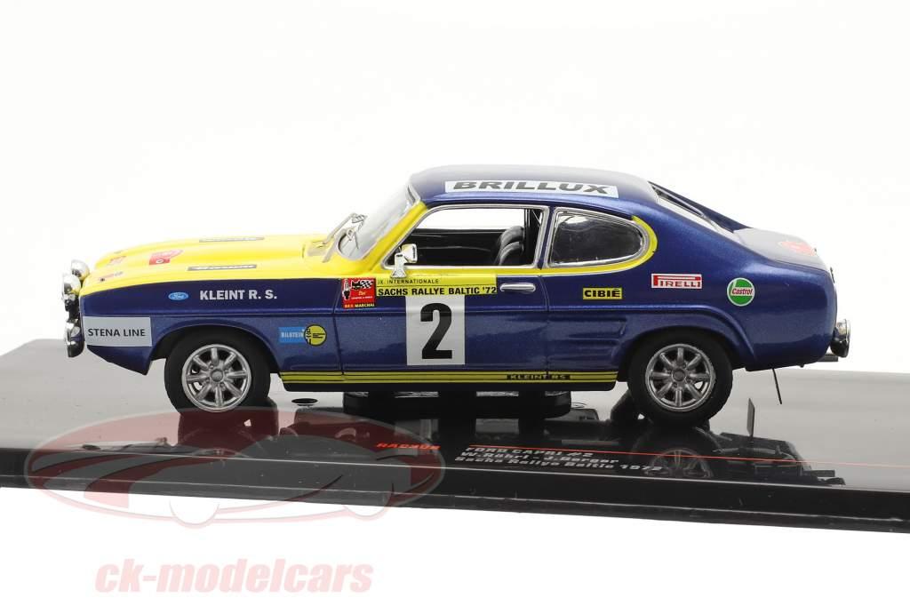 Ford Capri #2 Sachs Rallye baltique 1972 Röhrl, Berger 1:43 Ixo