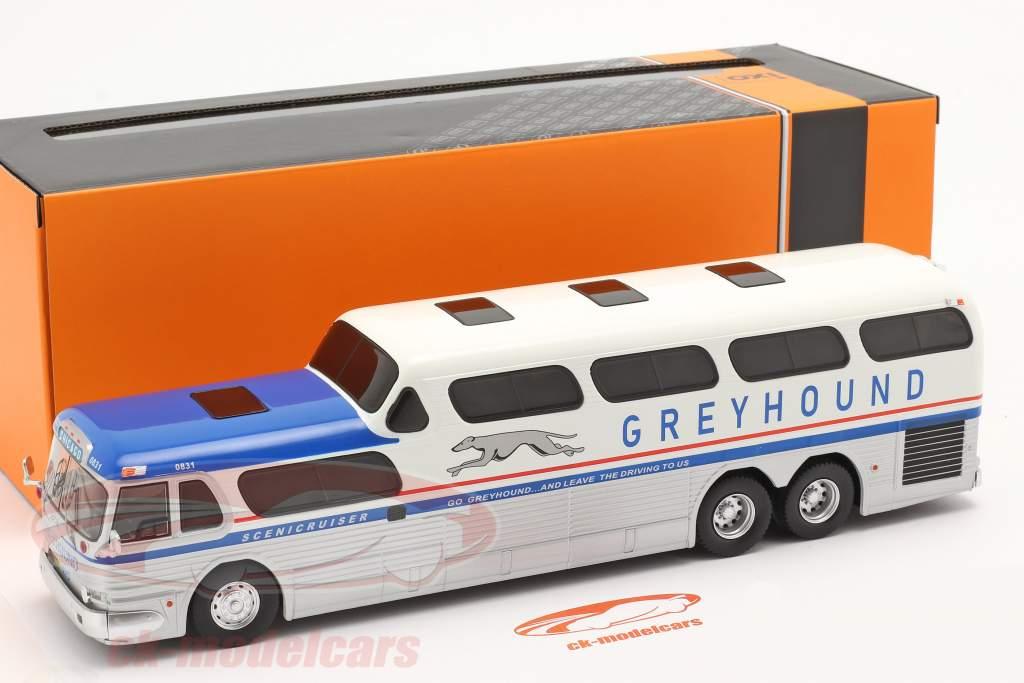 GMC Greyhound Scenicruiser Baujahr 1956 silber / weiß / blau 1:43 Ixo